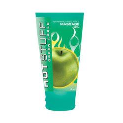 Hot Stuff Warming Oil Green Apple 6oz.