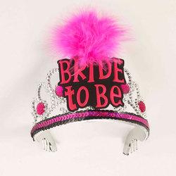 Bride To Be Tiara-Blk/Pink