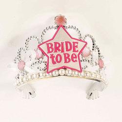 Bride To Be Star Tiara-Wht/Pink