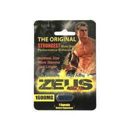 Zeus Plus Male Supplement 1pk Open Stock