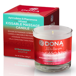 DONA Massage Candle Strawberry 4.75oz