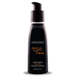 Wicked Aqua Heat Waterbased Lube 2oz.