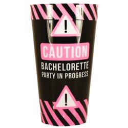 Caution Bachelorette Party Plastic Cup