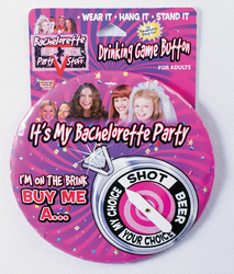 Bachelorette Drinking Game Jumbo Button