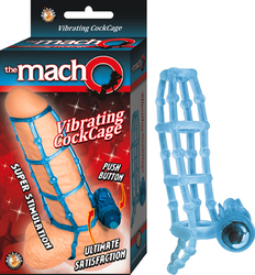 The Macho Vibrating Cockcage (Blue)