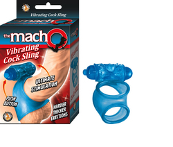The Macho Vibrating Cocksling (Blue)