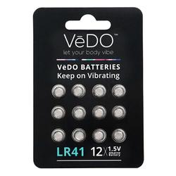 VeDO Batteries LR41 - 12 Pack 1.5V