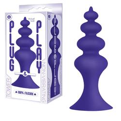 The 9's Plug&Play Sili Plug Tower Plum