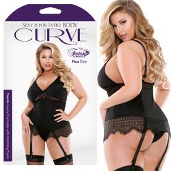 Curve Yasmin Camisole w/Panty Blk 1X/2X
