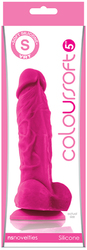 ColourSoft 5in Soft Dildo Pink