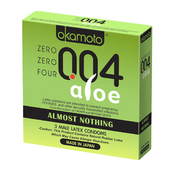 004 Almost Nothing Condom w/Aloe  (3pk)