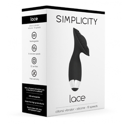 Simplicity Lace R/C Clitoral Vibe Black