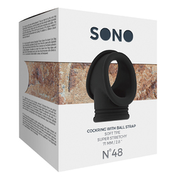 Sono No.48 - Cockring w/Ball Strap Black