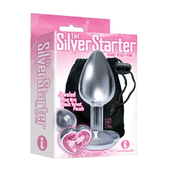 The 9's Silver Starter Heart Plug Diamnd