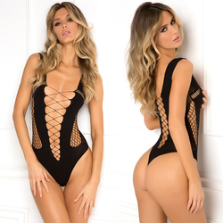 Splitting Up Bodysuit Black O/S