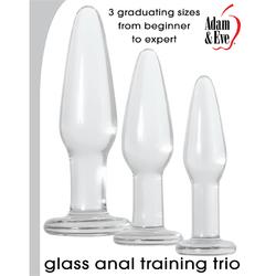 A&E Glass Anal Training Trio Clear