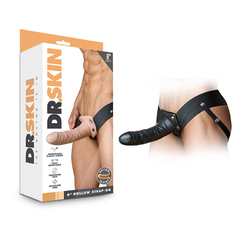 Dr. Skin - 6in Hollow Strap On - Black