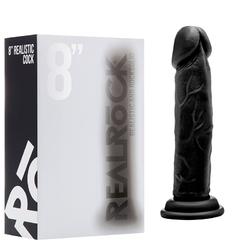RealRock Cock - 8in - Black