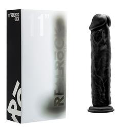 RealRock Cock - 11in - Black