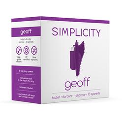 Simplicity GEOFF Bullet vibrator -Purple