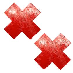 Neva Nude Pasty X Factor Wet Vinyl Red