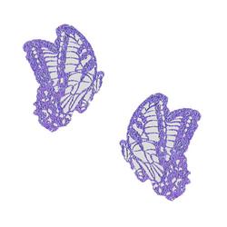Neva Nude Pasty Butterfly Glitter Lav