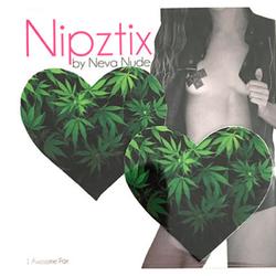 Neva Nude Pasty Heart Weed Leaf