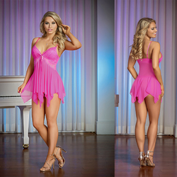 MS Pretty in Pink Baby Doll Set Pink S/M