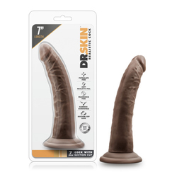 Dr. Skin - 7in Cock w/Suc Cup Chocolate