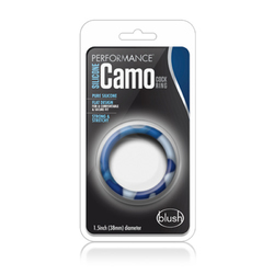 Performance - Sili Camo Cock Ring Blue