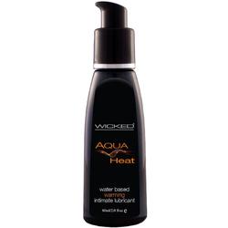 Wicked Aqua Heat Waterbased Lube 4oz