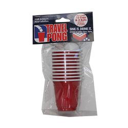 Travel Beer Pong Set (10 Cups/3 Balls)
