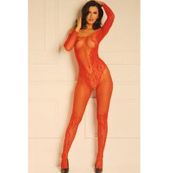 Make You Melt Bodystocking Red O/S