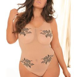 Romantic Undertones Bodysuit Nude O/S