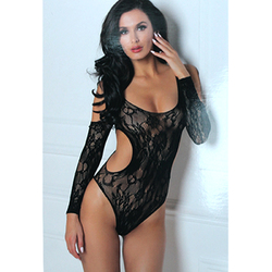 Set The Mood Bodysuit Black O/S