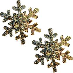 Neva Nude Pasty Snowflake Glitter Gold