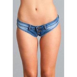 Mini Denim Cheeky Jeans Shorts Sm Blue