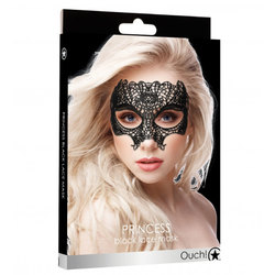 Ouch! Princess Black Lace Mask  - Black