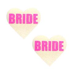 Neva Nude Pasty Bride Heart UV Neon Pink