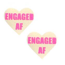 Neva Nude Pasty Engaged Heart UV Neon Pk