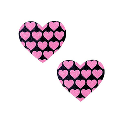 Neva Nude Pasty Hearts On Heart UV Pk/Bk