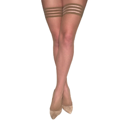Kixies Samantha Nude Fishnet Size A