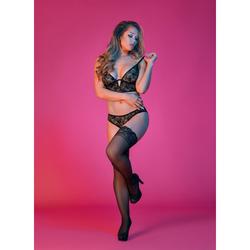 MS Sexy Time Bralette & Panty Black LX