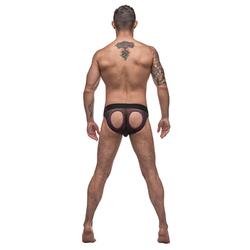 MP Airotic Mesh Butt Out Bikini Blk Xlg