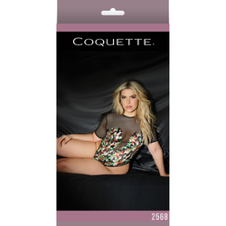 Army Girl Fishnet Crotchless Teddy