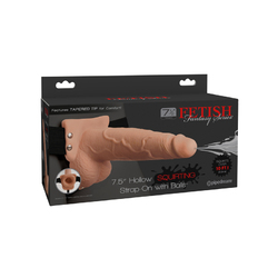 FF 7.5in Hollow Squirt Strap-On Balls Fl