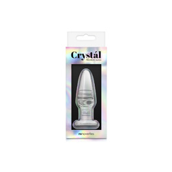 Crystal Tapered Plug Small Clear