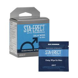 Sta-Erect/Pheromone Delay Wipes/Men 10Pk