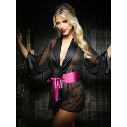 Nancy Dreesing Robe/Pants Set Blk L/XL