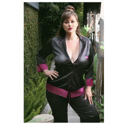 Majorie Cuff Satin Blazier Jacket 3x/4x
